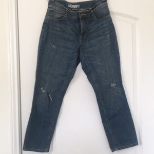 New York & Company distressed ankle jeans